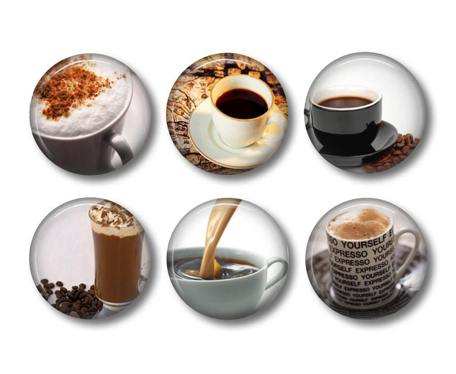 Coffee badges or fridge magnets - badge-bliss