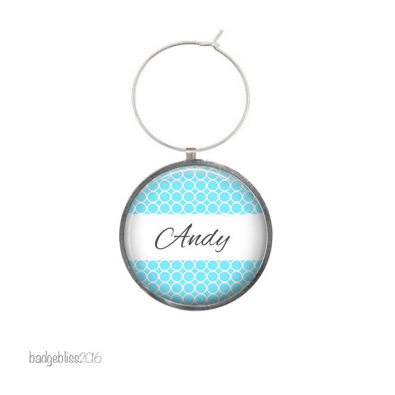 Wine glass charm personalised Honeycomb - Badge Bliss