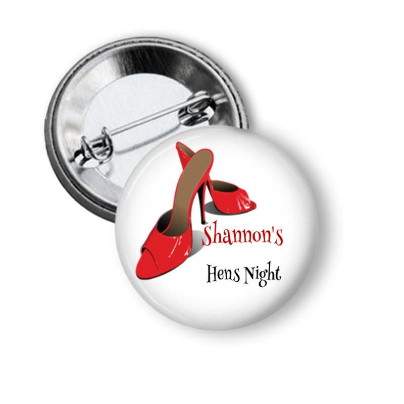 Hen party button badge  - Shoes.