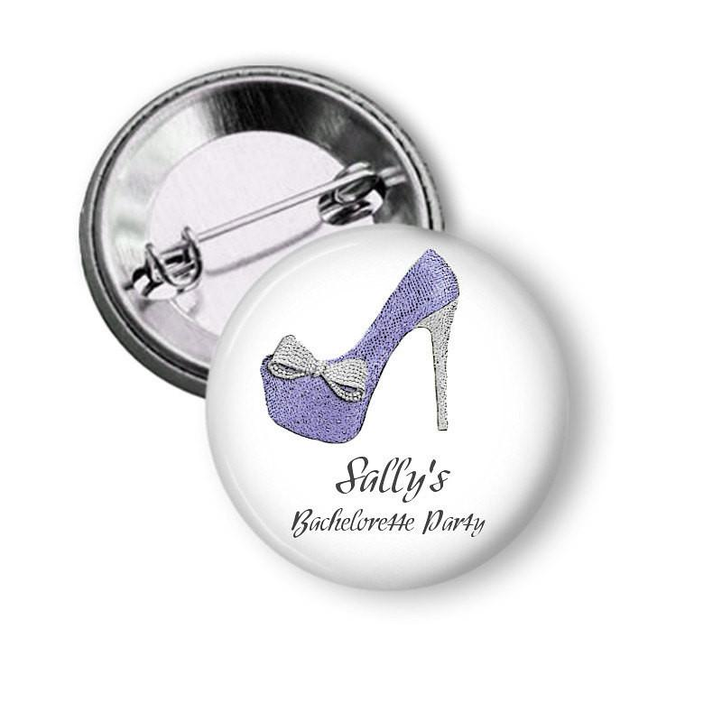 Hen party button badge Shoe