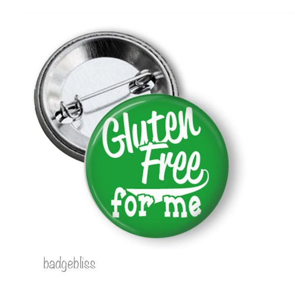 Gluten Free button badge