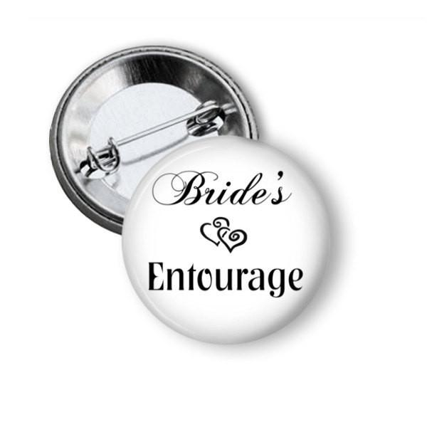 Brides entourage button badges