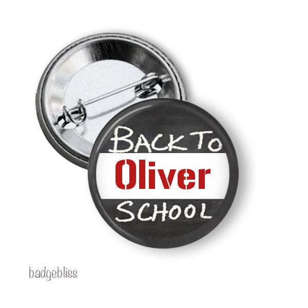 Back to School name badge or fridge magnet - badge-bliss