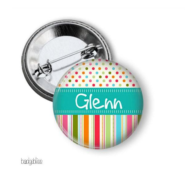 Candy stripe badge, magnet - badge-bliss