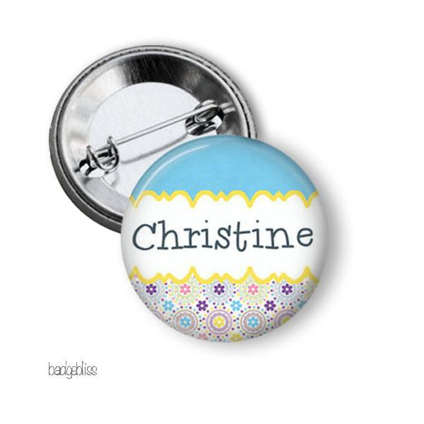 Personalised name badge, magnet - badge-bliss
