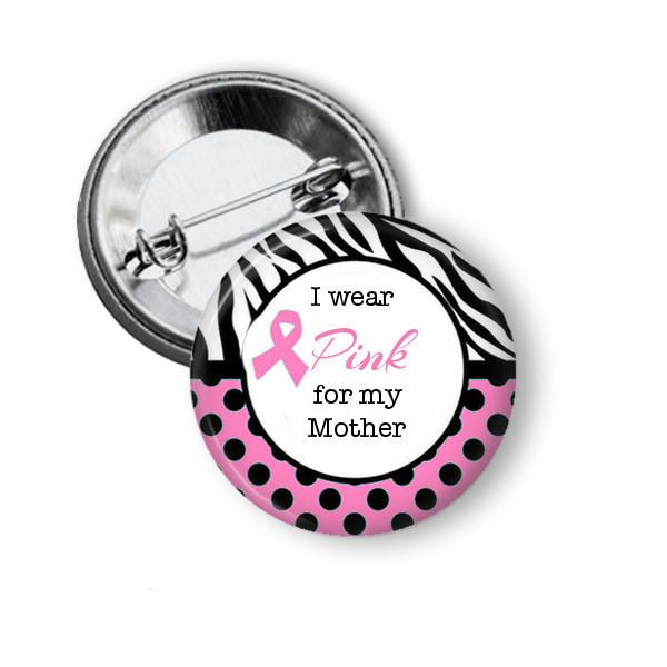 Breast cancer awareness badge, magnet - Badge Bliss