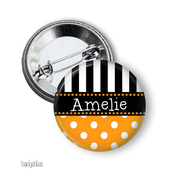 Polka Dot badge or fridge magnet - badge-bliss