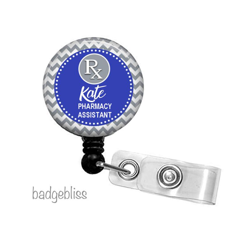 Pharmacy ID badge reel, ID holder - badge-bliss