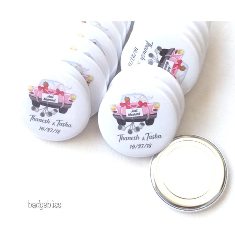 Wedding favour magnet - badge-bliss