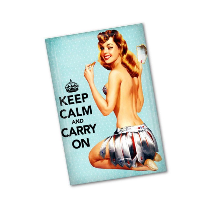 Pinup girl fridge magnet - badge-bliss