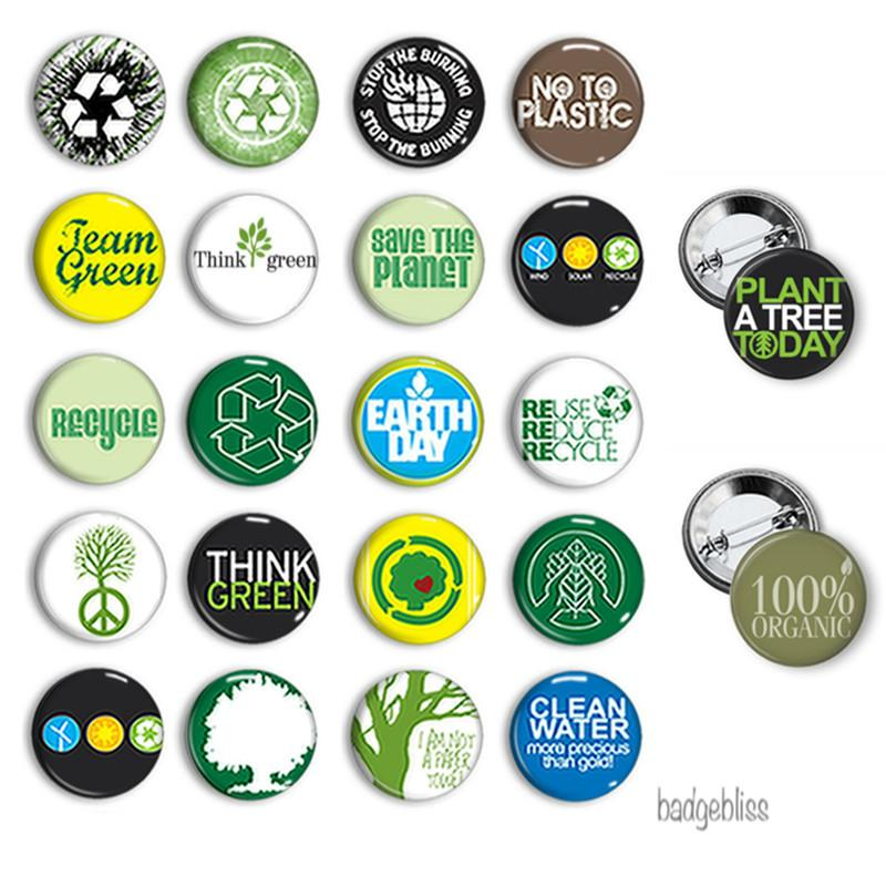 Button badge Recycle