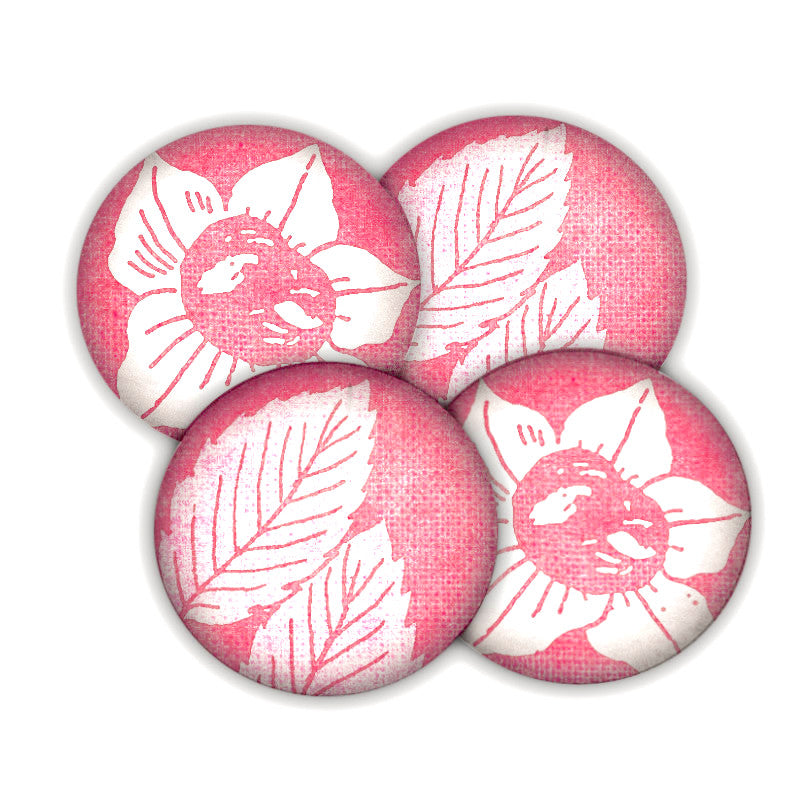 Red Floral coaster set
