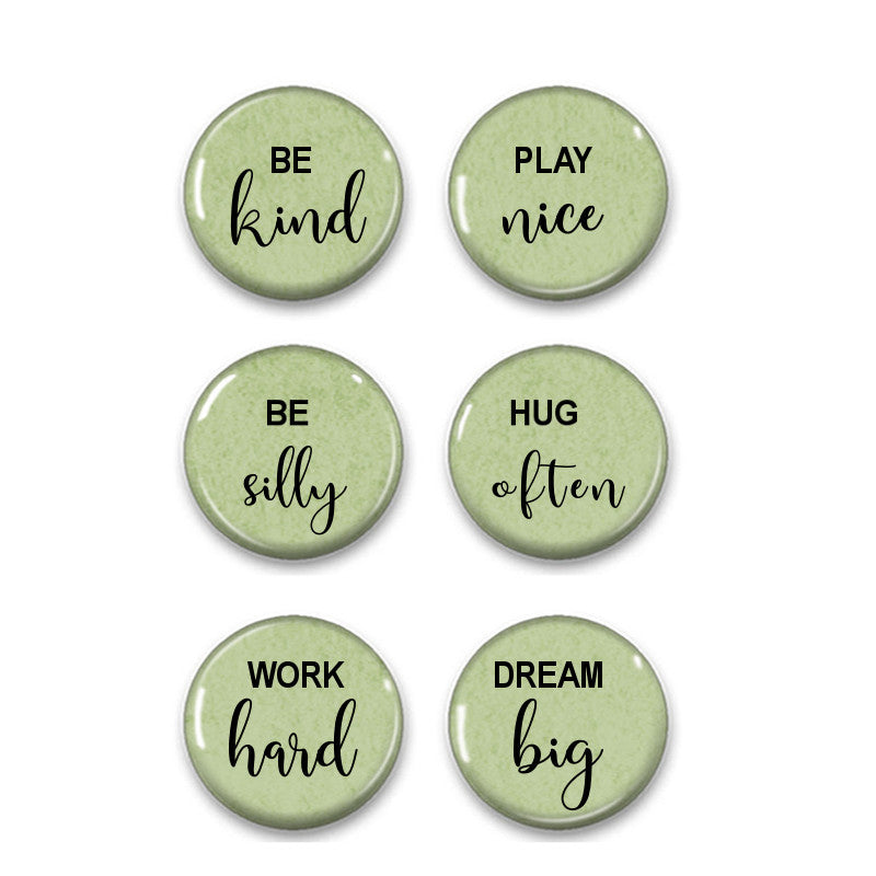 Family rules fridge magnets - badge-bliss