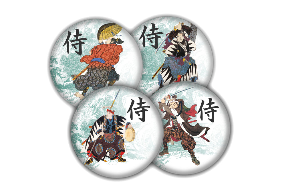 Samurai coaster set