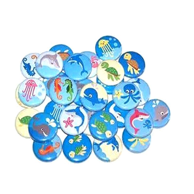 Button badges Ocean life