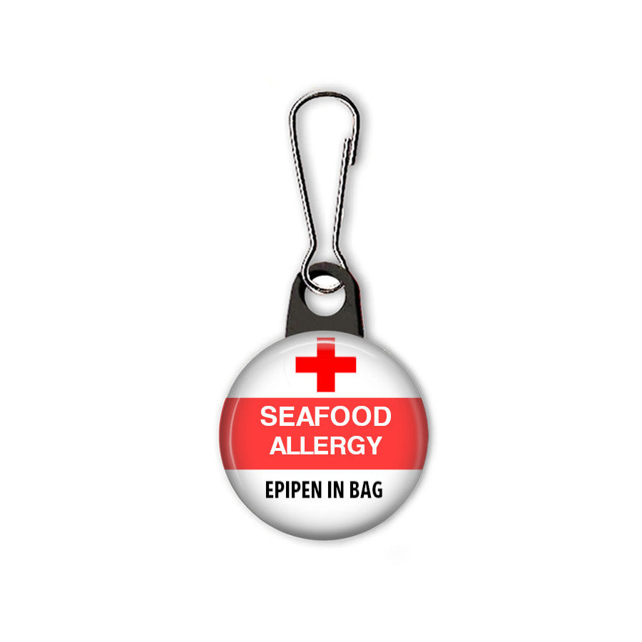 Seafood allergy bag tag