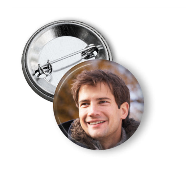 Custom smile button badges - 5.8cm