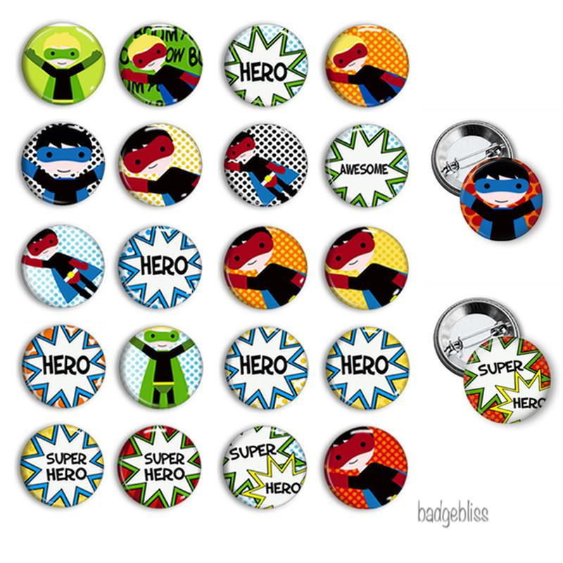 Button badges Superhero