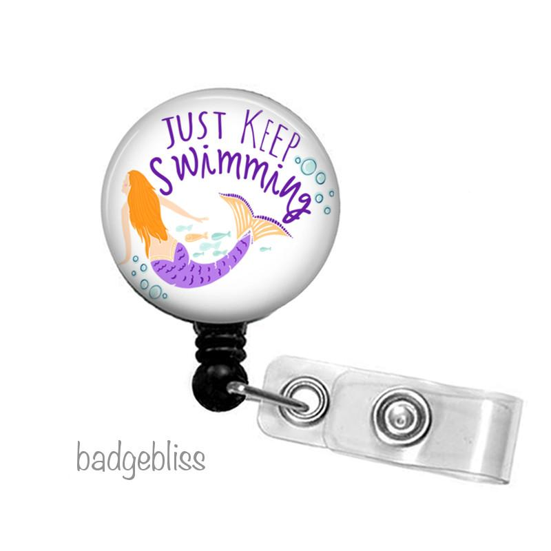 Mermaid ID badge reel - Badge Bliss