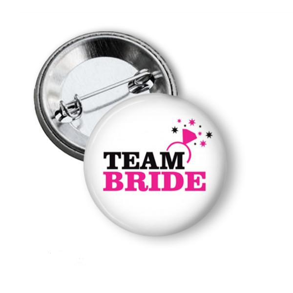 Team Bride Hen party button badge