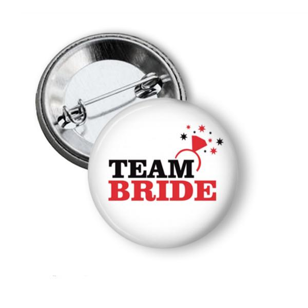 Team Bride Hen party button badge - Badge Bliss