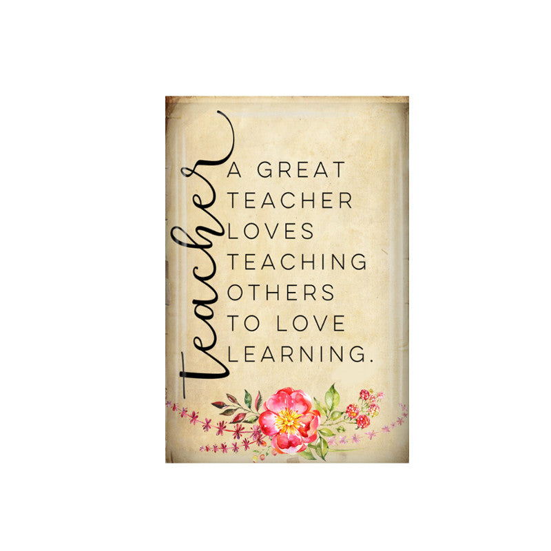 A Great Teacher fridge magnet - badge-bliss