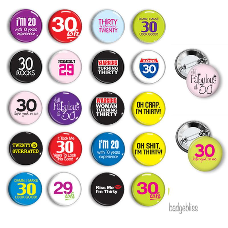Button badge Birthday 30