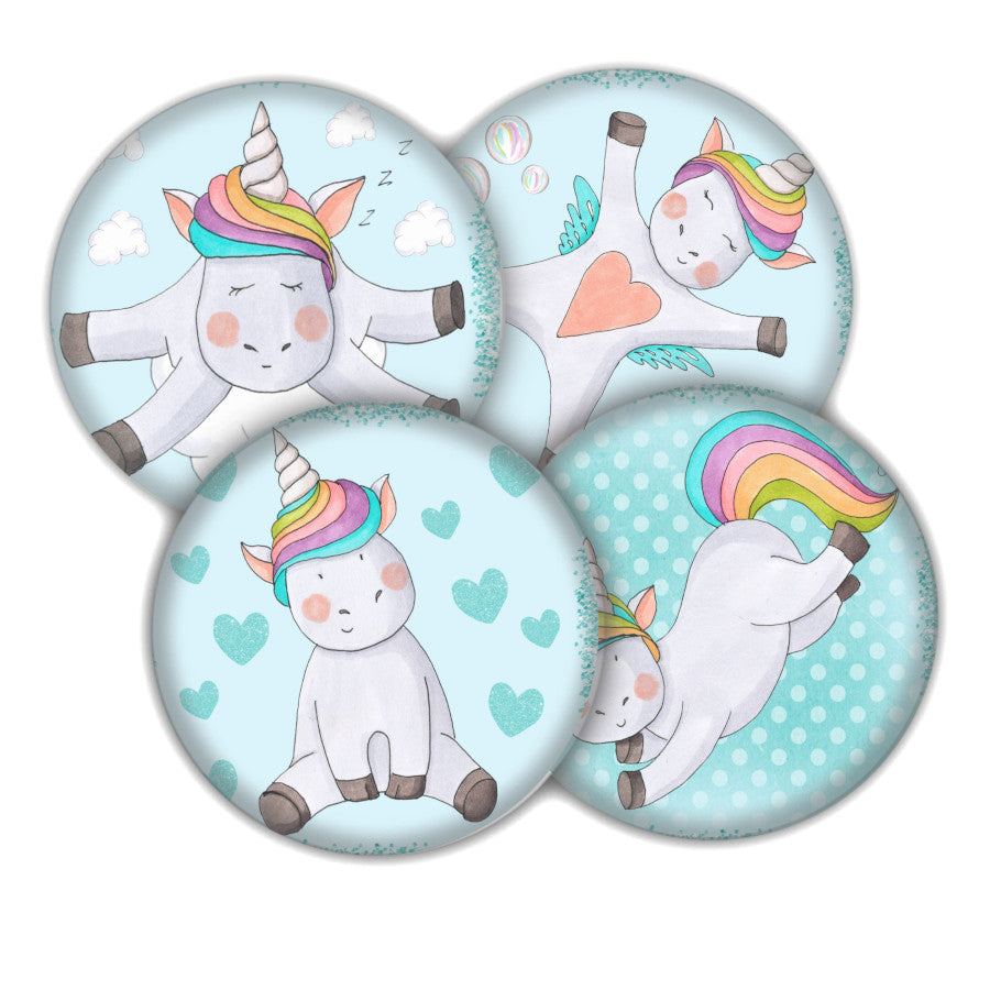 Unicorn coaster set