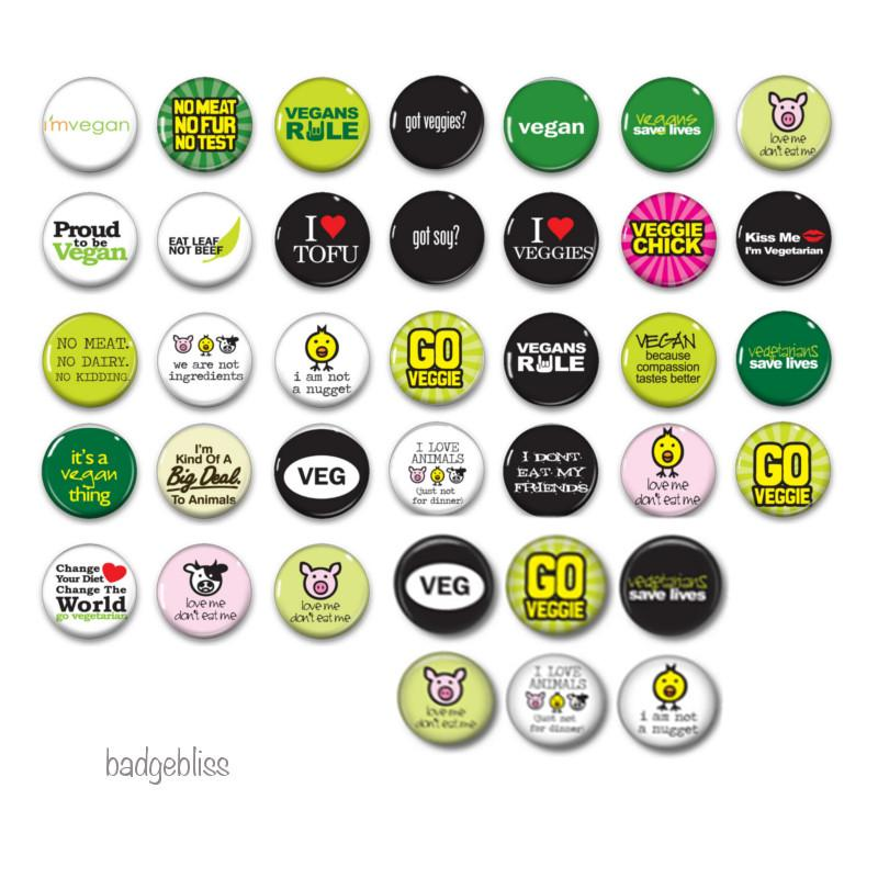 Vegan awareness badges