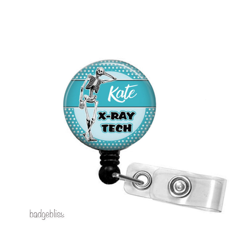 Xray Tech ID badge reel, ID holder - badge-bliss