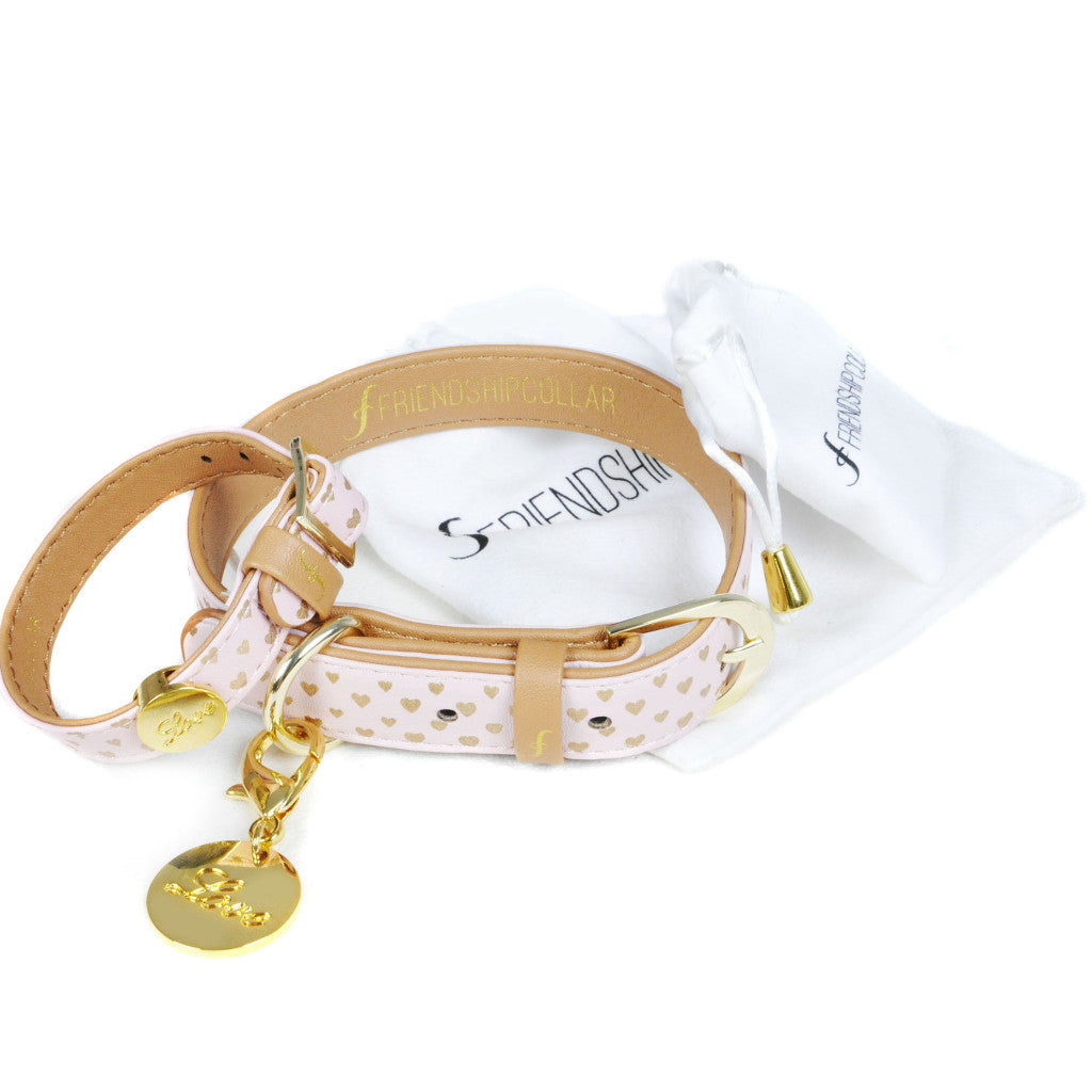 Love Script Charm Set for Friendship Collar and Bracelet