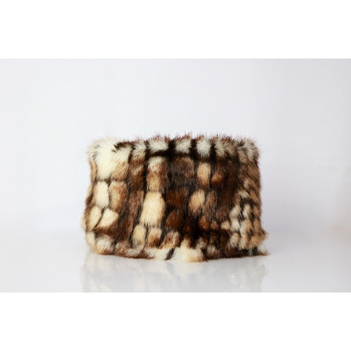 Wanderlust Faux Fur Scarf by Studio Eloise + LELE Collection