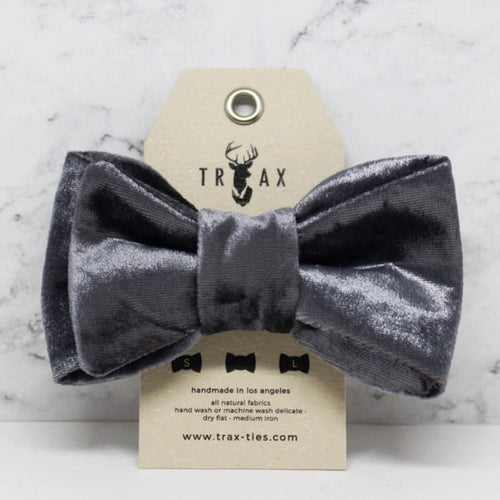 LUXE Signature iridescent - Silk Velvet Bow Tie by TRAX TIES + LELE
