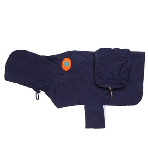 Navy Blue Raincoat by FabDog