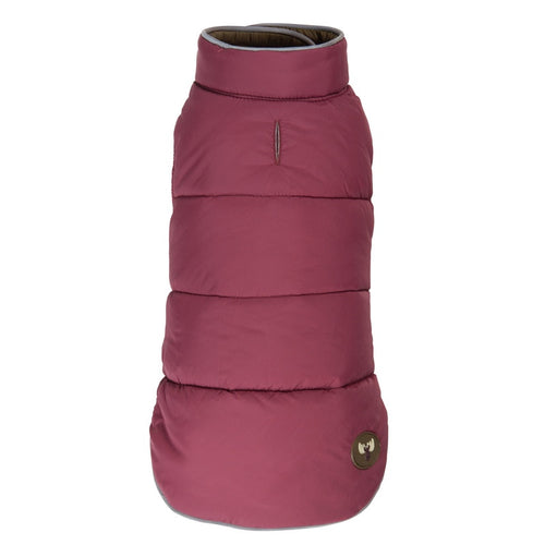 Reversible Olive/Burgundy Moose Puffer by FabDog