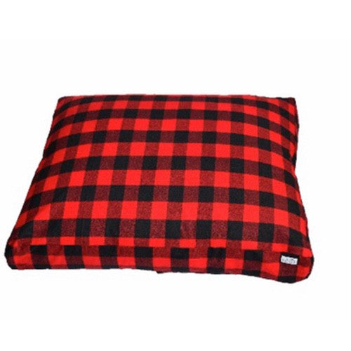 Red Buffalo Plaid Bed Duvet by Dog Threads
