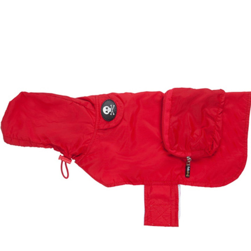 Red Skull Raincoat by FabDog