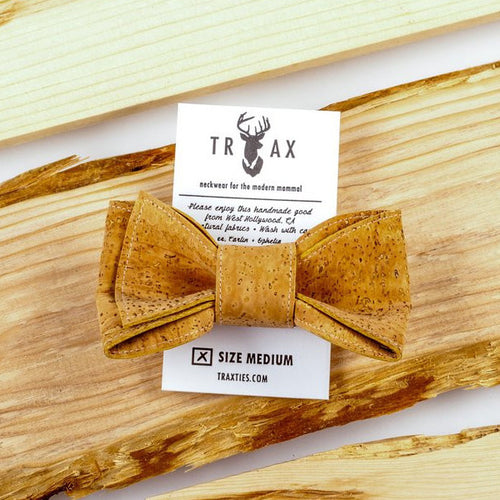 Cork Leather Bow Tie by TRAX TIES