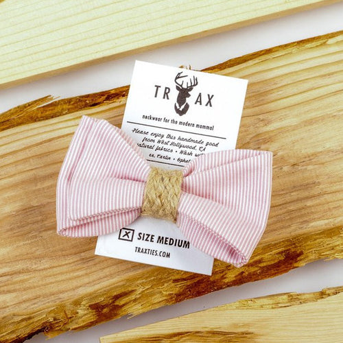 Pink Cape Cod Bow Tie by TRAX TIES