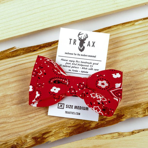 Red Bandana Bow Tie by TRAX TIES