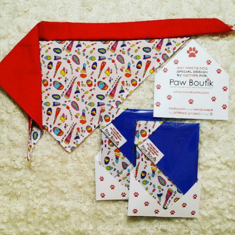 Color the Snow Dog Meets Art Bandana by Sterre Studio