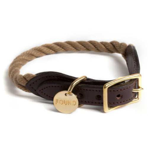 Natural Rope Collar by Found My Animal