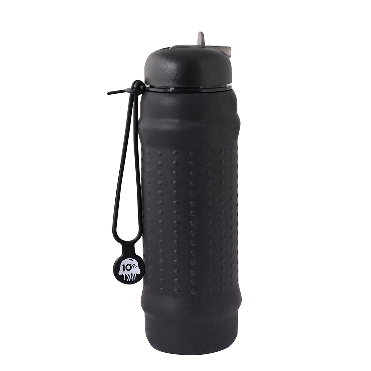Rolla Bottle Black, Black Lid + Black Strap