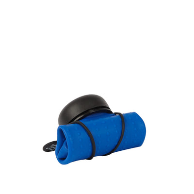 Rolla Bottle - Cobalt, Black Lid + Black Strap - rolled
