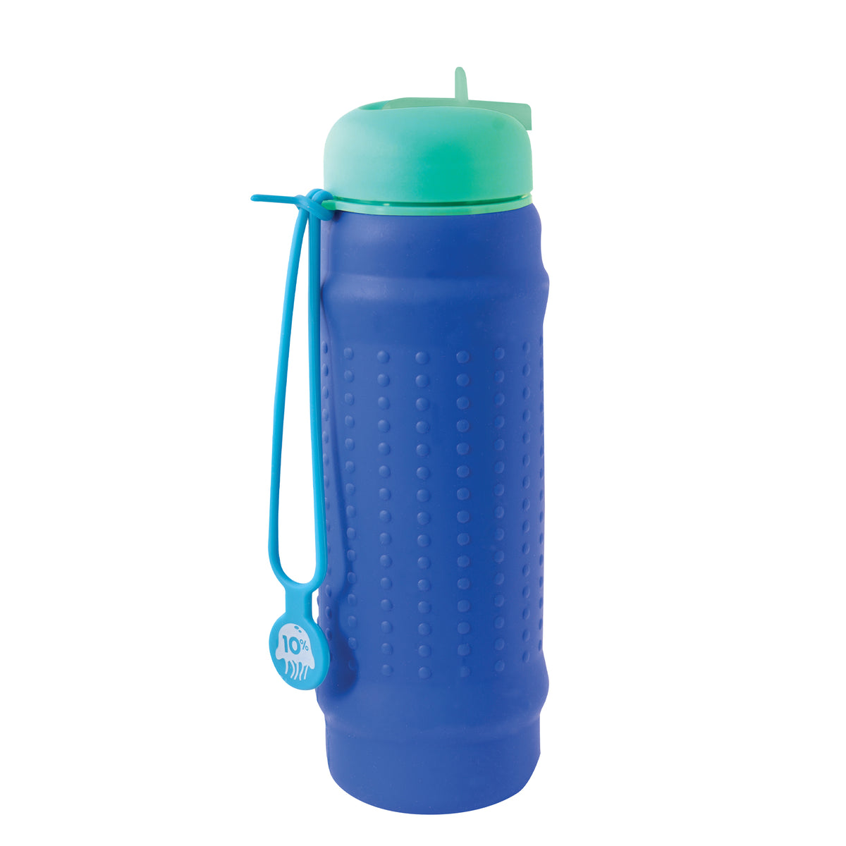 Rolla Bottle - Teal Lid + Aqua Strap