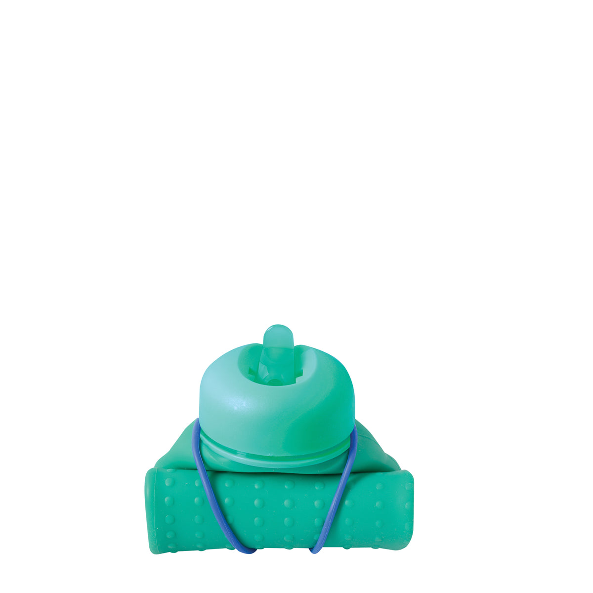 Rolla Bottle - Green, Teal Lid + Cobalt Strap