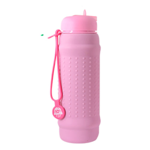 Pink Lilac Rolla Bottle with Pink Lid and Bright Pink Strap