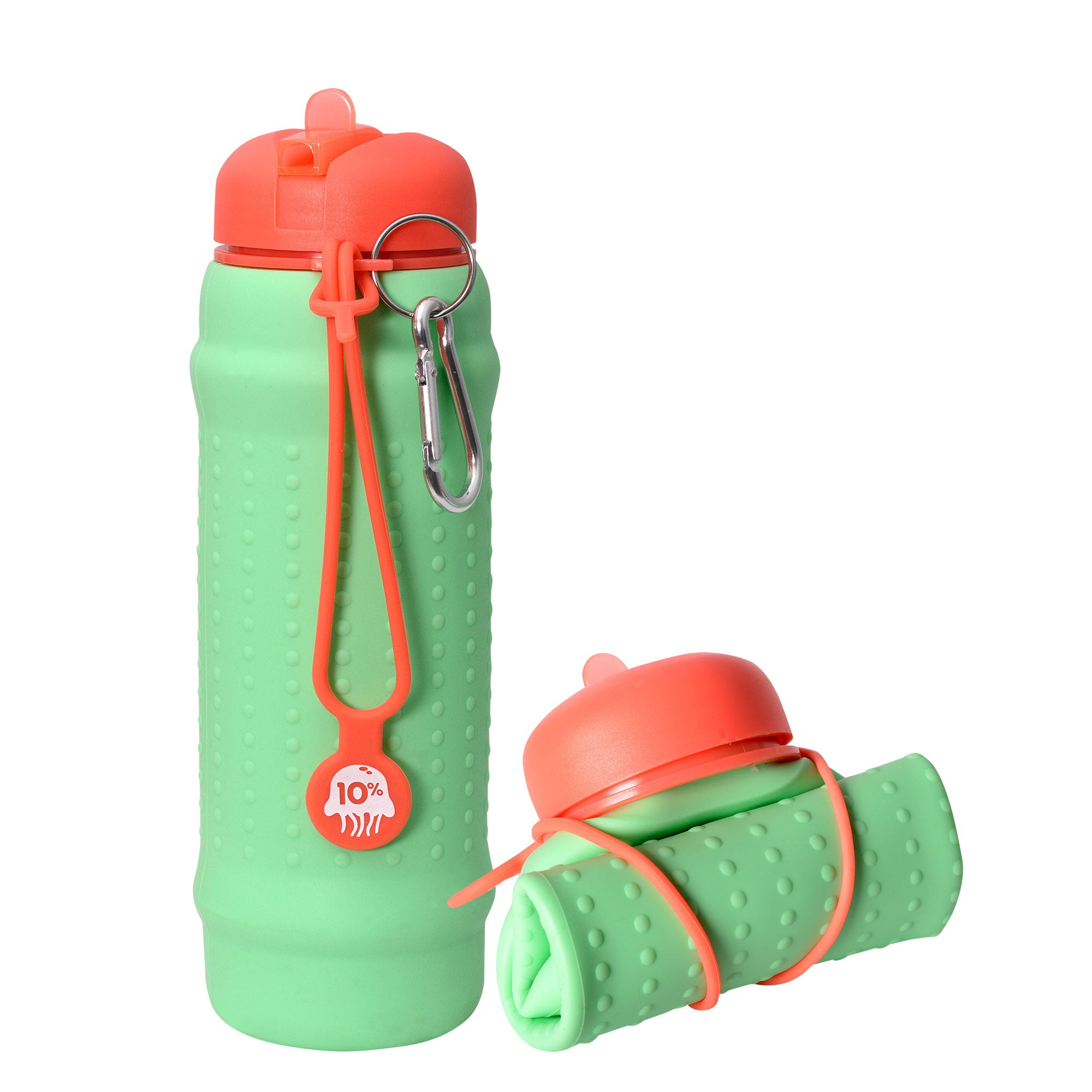 Rolla Bottle - Mint, Coral + Coral