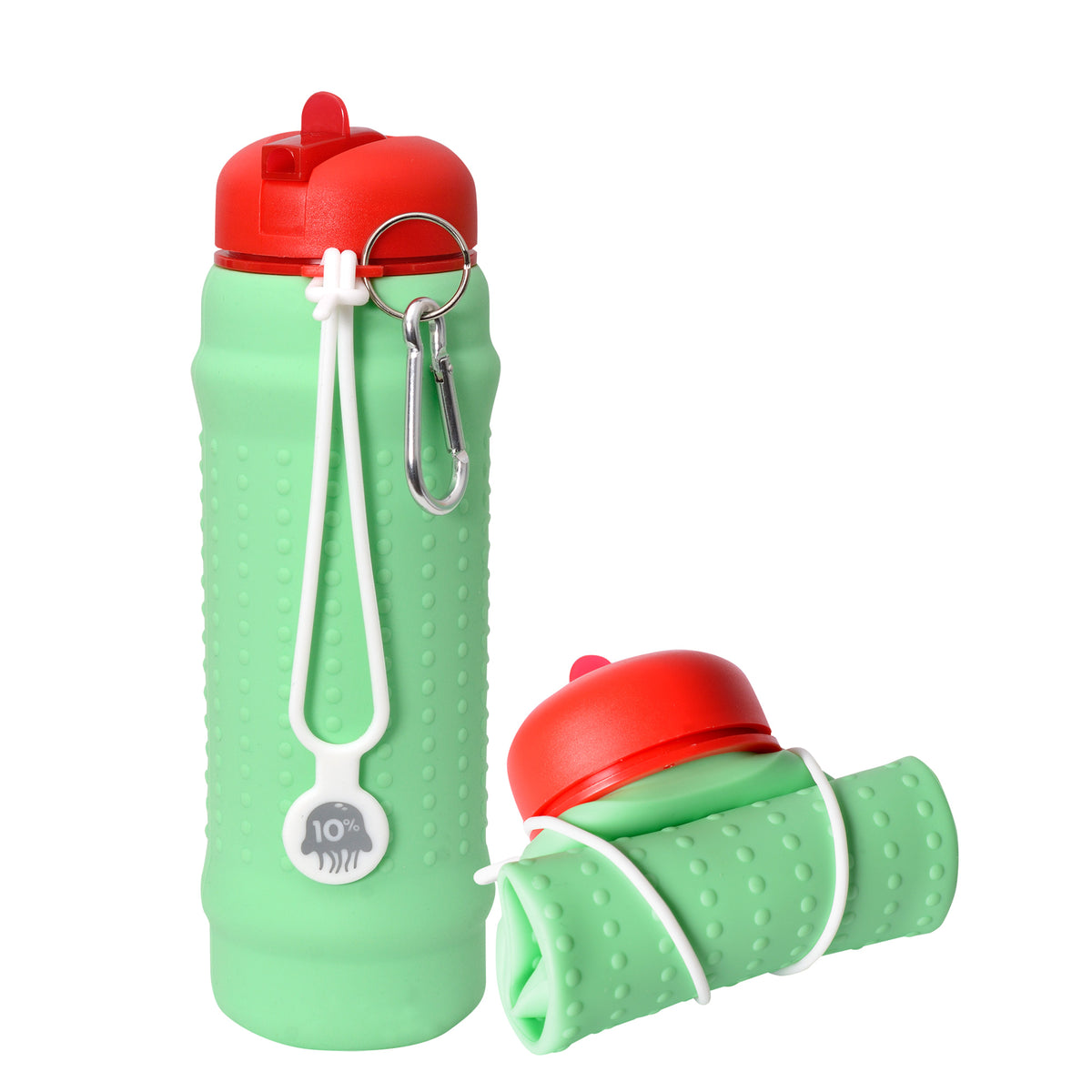 Rolla Bottle - Mint, Red + White