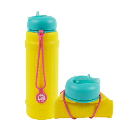 Rolla Bottle - Yellow, Teal Lid + Pink Strap